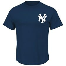 Mickey Mantle New York Yankees MLB Majestic Cooperstown Player Navy T-Shirt