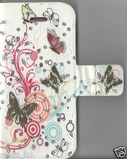 IPHONE 4 4S 5 5S 5C 6 6+ MULTICOLOUR BUTTERFLY BOOK FLIP CASE COVER PU LEATHER