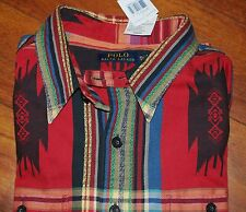 NWT POLO Ralph Lauren Native Indian Southwestern Beacon Shirt Jacket Mens L XL