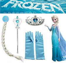 Frozen Snow Queen Elsa Anna Princess Tiara Crown Hair Piece Wand Gloves Dress Up