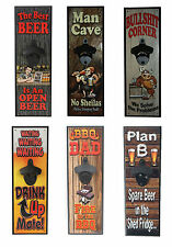 Wall Mounted Bottle Opener | Man Cave | BBQ Dad | Beer | Bullshit Corner