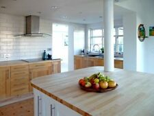 Prime Ash Solid Wood Worktop, 40mm staves, Hard Timber, Lighter than oak/beech