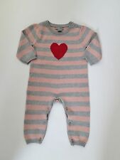 Baby GAP Girls Striped Intarsia Heart One Piece Sweater NwT 12 18 24 Months
