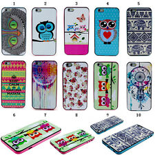 Stylish Paint Rubber TPU+PC Hybrid Case Cover For Various Smart Cell Phone