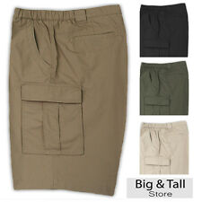 Big & Tall Men's Savane Cargo Trail Shorts Expandable Waist Sizes 44 - 60