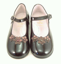 DE OSU - Girls' Brown Patent Leather European Dress Shoes - Mary Janes B-7732 S