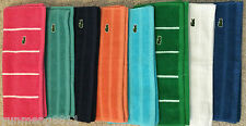 """NEW Lacoste hand towel 100% cotton salmon pink turquoise blue green 15""""x28"""""""