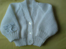 Hand Knitted Baby Cardigan Boy / Girl New Born 14 inch  0-3 Months many colours