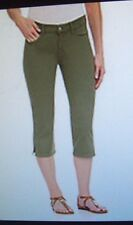NYDJ Not Your Daughter Jeans Hayden crop capri pants Rosemary green petite