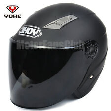 DOT ECE Motorcycle Bike 3/4 Open Face Half Helmet Full Shield Visor S/M/L/XL/XXL