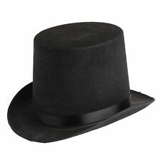 Import Coachman Hat Black Only Permafelt Tall Top Hat Victorian Costume Hat 560