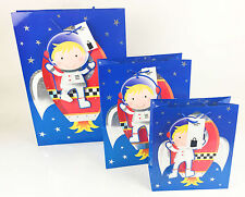 Space Themed Party Gift Bags Birthday Boys Kids Quality Giftbags Bag Astronaught