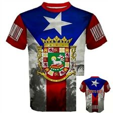 PUERTO RICO FLAG Rican San Juan coat of arms Country Sport Barcode T-SHIRT PF2