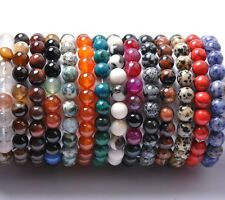 FREE SHIPING 8MM Natural Gemstone Round Beads Stretchy Bracelets