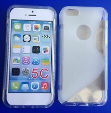 High Quality S-line Wave TPU Silicone Gel Cover Case for iPhone 5C Mobile Phone
