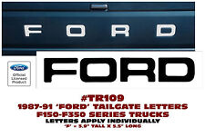TR109 1987-91 FORD TRUCK - STYLESIDE - TAILGATE  LETTERS DECAL  F150 F250 F350