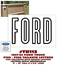 TR113 1957-63 FORD F100 - F350 TRUCK - TAILGATE LETTERS - DECAL - LICENSED