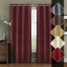 Prairie Blackout weave Embossed Grommet Curtains Panels