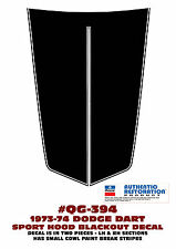 QG-394 1973-1974 DODGE - DART SPORT HOOD BLACKOUT DECAL