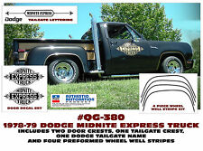 QG-380 1978-79 DODGE - MIDNITE EXPRESS TRUCK - COMPLETE STRIPE & DECAL KIT