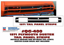 QG-400 1971 PLYMOUTH DUSTER - TAIL PANEL STRIPE DECAL KIT