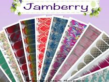 JAMBERRY  - Half Sheet - A thru F - Nail Wraps Spring/Summer  Fast Shipping