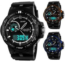 New Fashion Mens Digital Date LED Alarm Military Sport Analog Quartz Wrist Watch