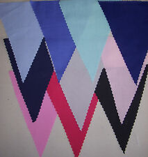 Plain Coloured Fabric Bunting Party Decorations Wedding BBQ 3mtrs - 10 mtrs