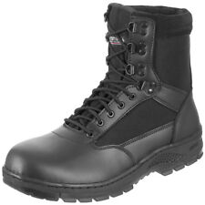 """SurplUS Tactical Mens Police Security Footwear Leather Army Work 8"""" Boots Black"""