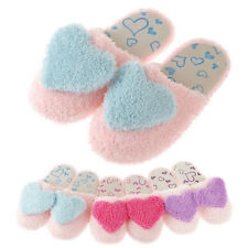 New Women Soft Cosy Furry Cute Love Heart Warm Winter Slippers Shoes Indoor