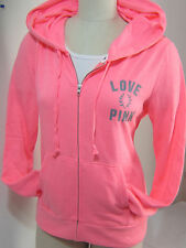 Victoria Secret Pink CORAL JACKET Lightweight SWEATSHIRT HOODIE M Christmas Gift
