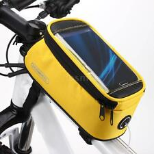"Roswheel Bike Front Top Tube Frame Bag Pouch Transparent for 5.5"" Cellphone 1.7L"