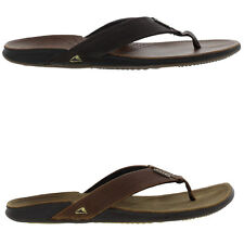 New Reef J-Bay Mens Brown Leather Flip Flop Sandals Shoes size UK 7-12