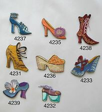 Lady Shoe,High-heel Shoe,Sandals,Shopping Embroidery Iron On Applique Patch