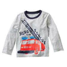 Spring Toddlers Wear Boys Kids Toddlers Long Sleeve T Shirts Tops Round Neck Tod