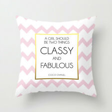 A Girl Should Be Two Things Classy and Fabulous Coco Chanel Quote Pillow