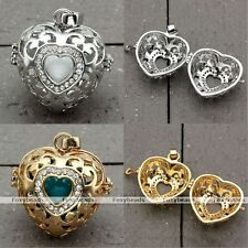 Mexican Crystal Locket Cage Harmony Musical Chime Ball Charms Heart Pendant