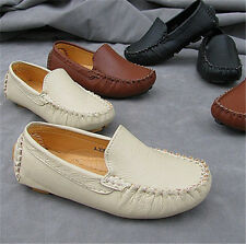 Elegant Unisex Boy Girl Slip On Loafers Round Toe Sneakers Flats Causal Shoes UK