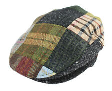 John Hanly & Co. Irish Made Tweed Flat Cap Patchwork Made in Ireland