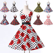 FAST Audrey Hepburn Style Vintage Rockabilly Swing 50s 60s Housewife Party Dress