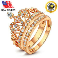 Gold Color plated 925 Sterling Silver Double  Rings .50% OFF