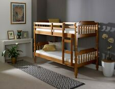 2FT6 Amani Spindle Flat Pack Bunk Bed In Honey Drawers and Mattresses Available