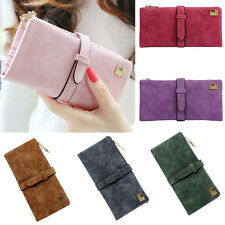 Fashion Lady Women Leather Wallet Drawstring Clutch Purse Lady Long Handbag Bag