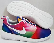 NIKE ROSHE RUN PRINT TIE DYE 7.5 8 RAINBOW sunset gold trophy santa monica cloud