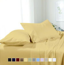 Attached Solid Waterbed Sheets, Super Soft & Wrinkle-Free Microfiber Sheet Set
