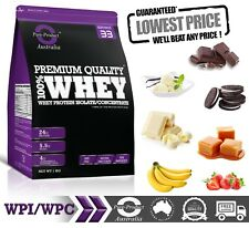 1KG  - WHEY PROTEIN ISOLATE / CONCENTRATE - STRAWBERRY -  WPI WPC  POWDER