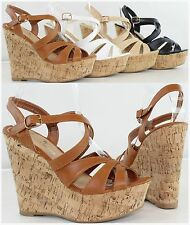 New Women's Hot Fashion High Heel Platform Wedge Strappy Sandals Pumps Shoes