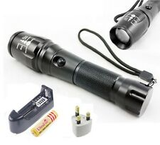 2000LM CREE XM-L T6 LED Zoomable Flashlight Torch 18650 Focus Lamp UK