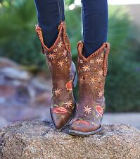 L1287-5 OLD GRINGO TRINITY WOMENS BROWN AUGUSTA WESTERN COWBOY BOOTS $560 RETAIL