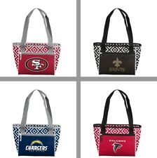 Choose Your NFL Football Team 16 Can & Food Double Diamond Cooler Tote Handbag